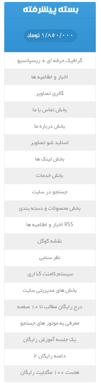تعرفه قیمت طراحی وب سایت باناوب